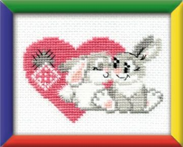 Riolis Cross Stitch Kit.YOU ARE MY SWEETHEART. Suitable for kids or beginners.